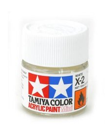 TAM Tamiya Acrylic Mini X2 White Paint (10ml)