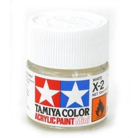 TAM Tamiya Acrylic Mini X2 White Paint (10ml)