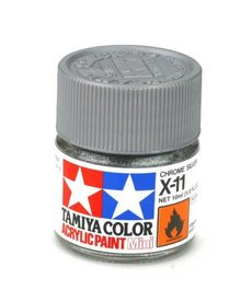 TAM Tamiya Acrylic Mini X11 Chrome Silver Paint (10ml)