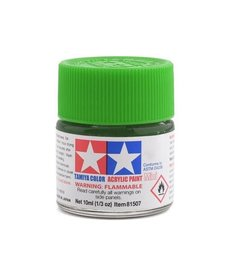 Tamiya Tamiya Acrylic Mini X25 Clear Green Paint (10ml)