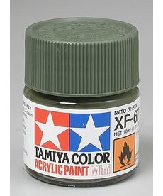 TAM Tamiya Acrylic Mini XF67 Flat Nato Green Paint (10ml)