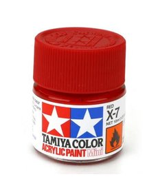 TAM Tamiya Acrylic Mini X7 Red Paint (10ml)