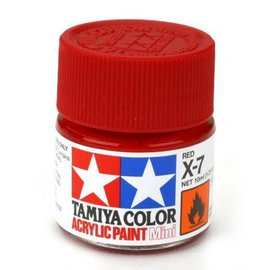 TAM Tamiya Acrylic Mini X7 Red Paint (10ml)