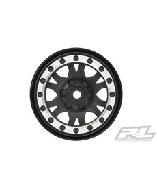 "Proline Racing Impulse 1.9"" Black/Silver Wheel Crawlers(2) F/R"