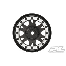 "Pro-Line Impulse 1.9"" Black/Silver Wheel Crawlers(2) F/R"