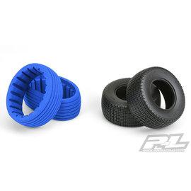 Proline Racing Fr, R Slide Job SC 2.2/3.0 M2 Dirt Oval Mod tires (2)