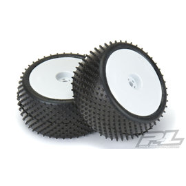 """Pro-Line Pro-Line Pyramid 2.2"""" Rear Buggy Pre-Mounted Carpet Tires (White) (2) (Z3)"""
