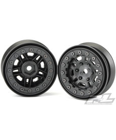 Proline Racing FaultLine 1.9 Blk Bead-Loc 10 Spoke Fr R Whl:Crawl