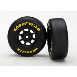 Traxxas Tires and wheels, assembled, glued (8-spoke wheels, black, 1.9 Goodyear Wrangler tires) (2)