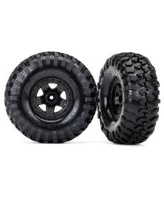 Traxxas Tires and wheels, assembled, glued (TRX-4 Sport wheels, Canyon Trail 2.2 tires) (2)