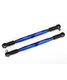 Traxxas Punteras, X-Maxx (TUBOS anodizados en azul, aluminio 7075-T6, más resistentes que el titanio) (157 mm) (2) / extremos de varilla, ensamblados con bolas huecas de acero (4) / llave de aluminio, 10 mm (1)