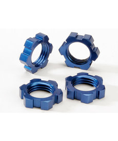 Traxxas 5353 Wheel nuts, splined, 17mm (blue-anodized) (4)