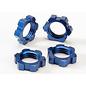 Traxxas Wheel nuts, splined, 17mm (blue-anodized) (4)