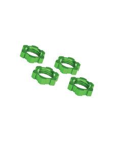 Traxxas 7758G Tuercas de rueda, acanaladas, 17 mm, dentadas (anodizado en verde) (4) 7758G