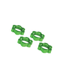 Traxxas 7758G Wheel nuts, splined, 17mm, serrated (green-anodized) (4) 7758G