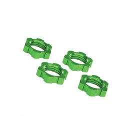 Traxxas 7758G Wheel nuts, splined, 17mm, serrated (green-anodized) (4) 7758G