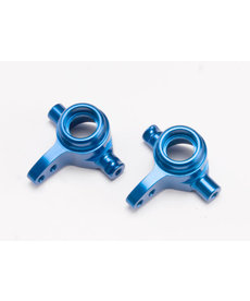 Traxxas 6837X Steering blocks, 6061-T6 aluminum, left & right (blue-anodized)