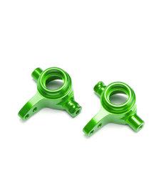 Traxxas 6837G - Bloques de dirección, aluminio 6061-T6 (anodizado verde), izquierda y derecha