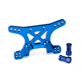 Traxxas Shock tower, front, 7075-T6 aluminum (blue-anodized) XO-1
