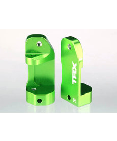 Traxxas 3632G Caster blocks, 30-degree, green-anodized 6061-T6 aluminum (left & right)/ suspension screw pin (2)