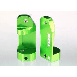 Traxxas 3632G Caster blocks, 30-degree, green-anodized 6061-T6 aluminum (left & right)/ suspension screw pin (2)