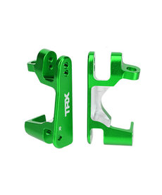 Traxxas 6832G - Caster blocks (c-hubs), 6061-T6 aluminum (green-anodized), left & right