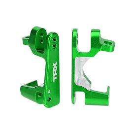 Traxxas 6832G - Caster blocks (c-hubs), 6061-T6 aluminum (green-anodized), left & right