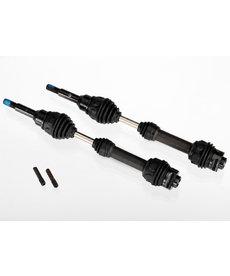 Traxxas 6851R Driveshafts, front, steel-spline constant-velocity 4x4