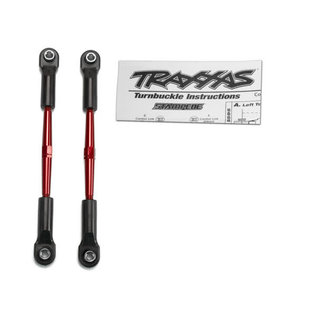 Traxxas Turnbuckles, aluminum (red-anodized), toe links, 61mm (2)(assembled with rod ends & hollow balls) (fits Stampede) (requires 5mm aluminum wrench #5477)