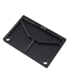 Yeah Racing Yeah Racing Aluminum Parts Tray (Black) (145x95x5mm)