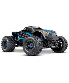 Traxxas 89076-4-BLUE MAXX WITH 4S ESC 89076-4-BLUE 1/10 Scale 4WD Brushless Electric Monster RC Truck Ready to Race (RTR) Blue