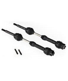 Traxxas 6852R Árboles de transmisión traseros, velocidad constante de estrías de acero (montaje completo) (2)