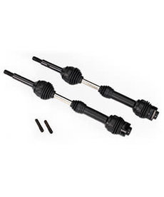 Traxxas 6852R Driveshafts, rear, steel-spline constant-velocity (complete assembly) (2)