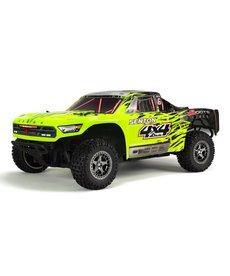 Arrma 1/10 SENTON 3S BLX 4WD Camión de recorrido corto sin escobillas con Spektrum RTR, verde / negro