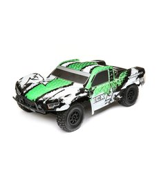 ECX 1/10 RC Torment Truck 4WD SCT Brushed RTR, Blanco / Verde