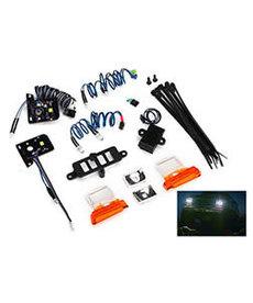 Traxxas Juego de luces LED (contiene faros, luces traseras, luces de posición laterales y bloque de distribución) (se adapta al cuerpo # 8010, requiere fuente de alimentación # 8028)