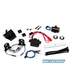 Traxxas 8038 - LED light set, complete with power supply (contains headlights, tail lights, side marker lights, distribution block, and power supply) (fits #8130 body)