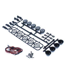 Redcat Racing HX-LED-001B  LED Crawler Light Bar Set(5 Spotlight) Black   (LED lights are white, Plastic Light bar is black)