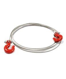 INT INTC25459R Juego de cables y ganchos, rojo; Rastreador a escala 1/10