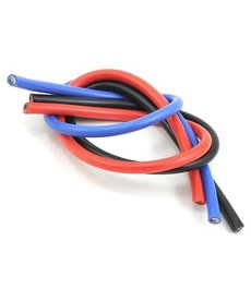 TQW TQW1103 Kit de alambre calibre 10 de 1 'cepillado negro / rojo / azul