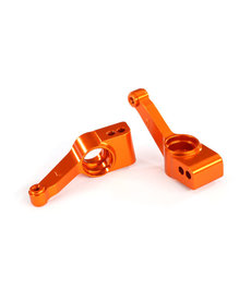 Traxxas 1952T Carriers, stub axle (orange-anodized 6061-T6 aluminum) (rear) (2)