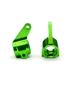 Traxxas 3636G Steering blocks, Rustler/Stampede/Bandit (2), 6061-T6 aluminum (green-anodized)/ 5x11mm ball bearings (4)