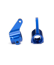 Traxxas 3636A Steering blocks, Rustler/Stampede/Bandit (2), 6061-T6 aluminum (blue-anodized)/ 5x11mm ball bearings (4)