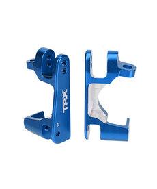 Traxxas 6832X Caster blocks (c-hubs), 6061-T6 aluminum, left & right (blue-anodized)