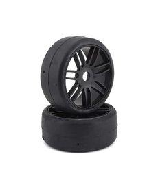 GRP Tyres GRP GT - Neumáticos de buggy 1/8 con cinturón liso premontados 1/8 (negro) (2) (S1)