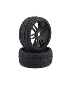 GRP Tyres GTX01-S5 GRP GT - TO1 Revo Belted Pre-Mounted 1/8 Buggy Tires (Black) (2) (S5)