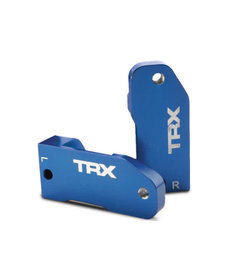 Traxxas Bloques de ruedas 3632A, aluminio 6061-T6 anodizado azul de 30 grados (izquierda y derecha) / pasador de tornillo de suspensión (2)