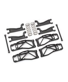 Traxxas Kit de suspensión, WideMaxx, negro (incluye brazos de suspensión delanteros y traseros, articulaciones de puntera delantera, muelles amortiguadores traseros)