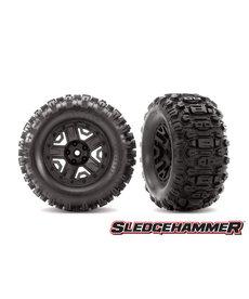 Traxxas 6792 - Neumáticos y ruedas, ensamblados, pegados (ruedas negras de 2.8 ', neumáticos Sledgehammer ™, insertos de espuma) (2) (clasificación TSM®)
