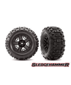Traxxas 6792 Tires & wheels, assembled, glued (black 2.8' wheels, Sledgehammer™ tires, foam inserts) (2) (TSM® rated)